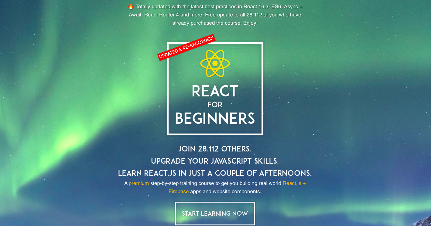 Wes Bos React course screenshot
