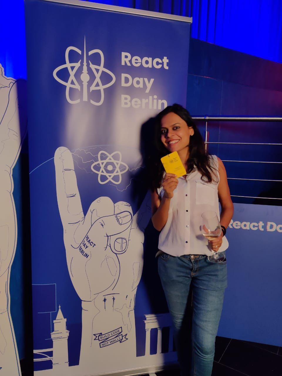 Meghna at React Day Berlin