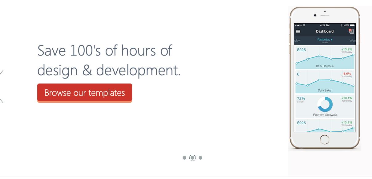 Screenshot of My App Templates website
