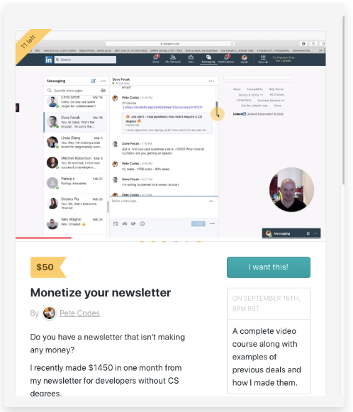 monetize your newsletter course