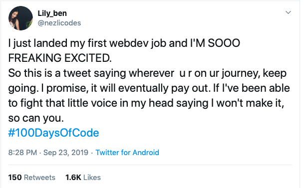 How this Biochemist from Algeria got a job by doing #100daysofcode